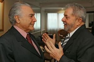Temer e Lula - um só destino